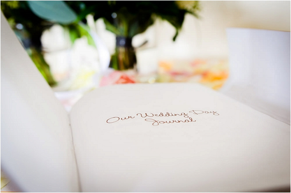 wedding day journal