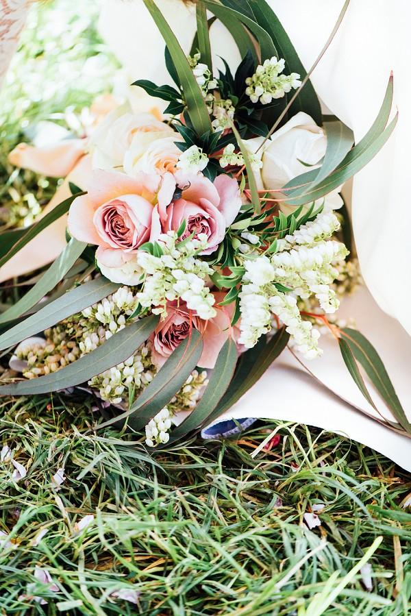Blush pink wedding rose