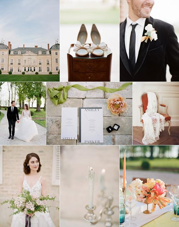 Chateau De Varennes Fine Art Wedding Inspiration Snapshot