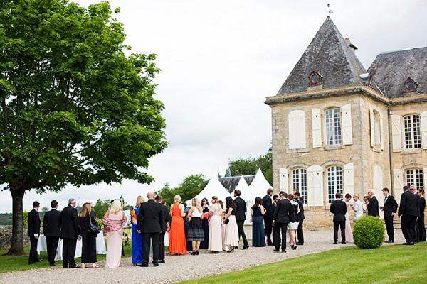 Dordogne outside wedding reception