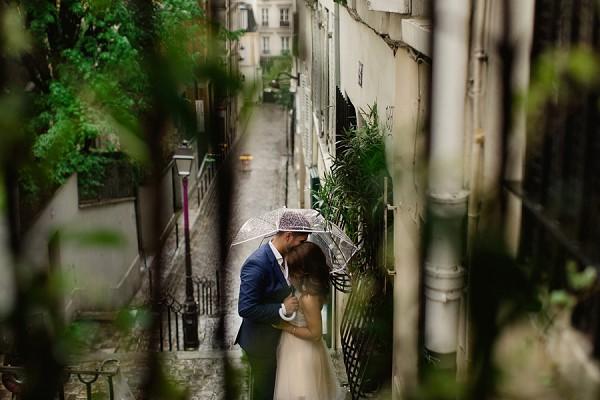 Engagement shoot umbrella