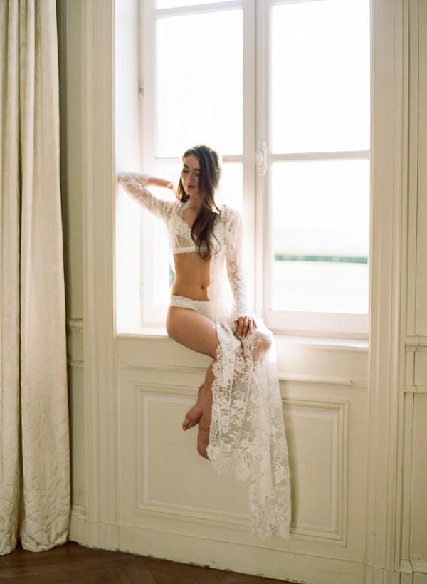 Fine art boudoir session