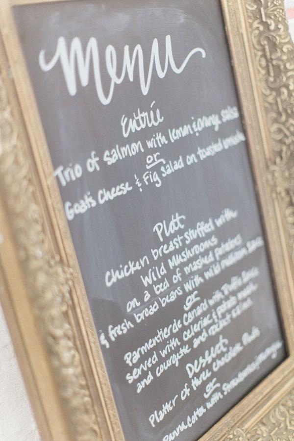French wedding menu