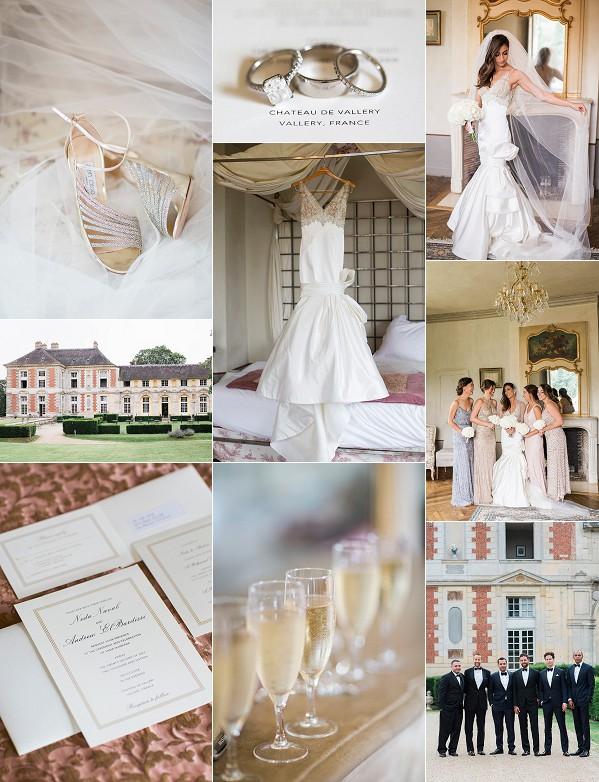 Glamorous Black Tie Chateau de Vallery Wedding Snapshot