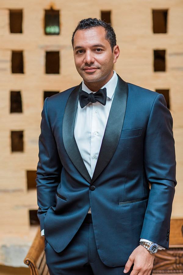 Glamorous Black Tie Groom