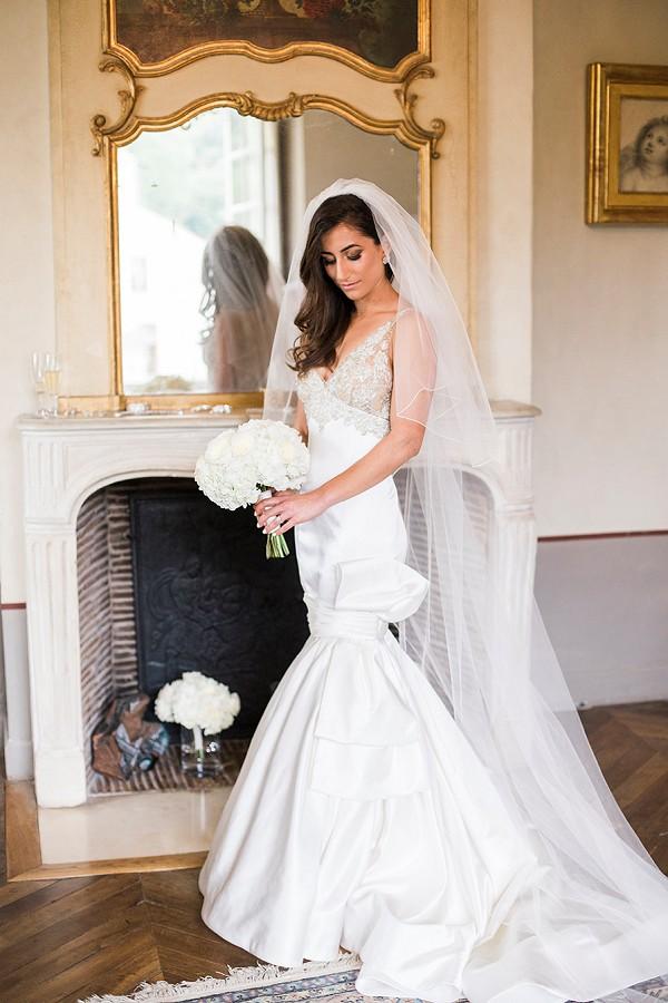 Glamorous fishtail wedding dress