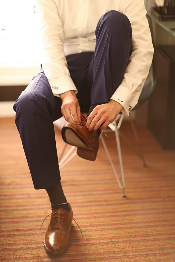 Groom initials suit