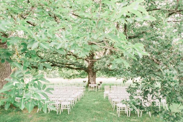 Outdoor tree wedding ceremony