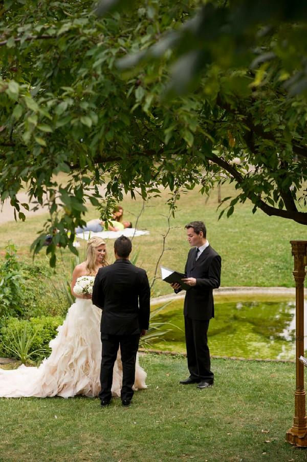 Paris garden elopement