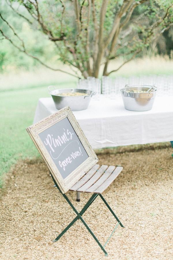 Pimms wedding cocktail