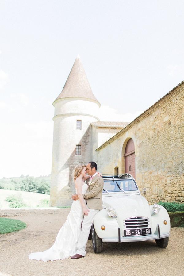 Romantic Chateau de la Bourlie Wedding
