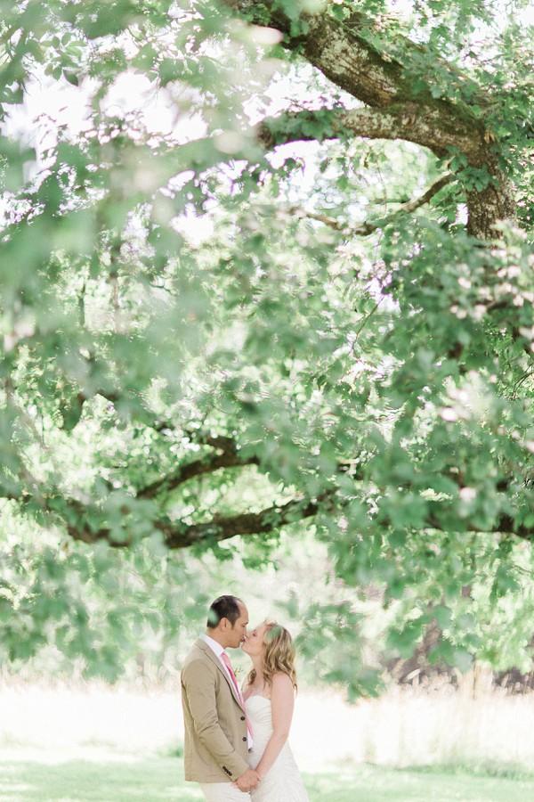 Romatic wedding couple