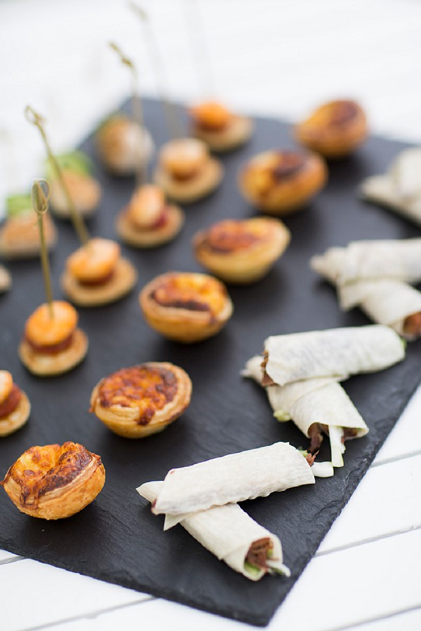 Sophisticated wedding canapes