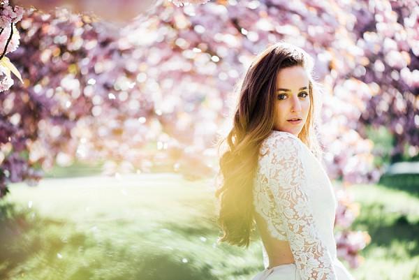 Springtime Cherry Blossom Bridal Shoot