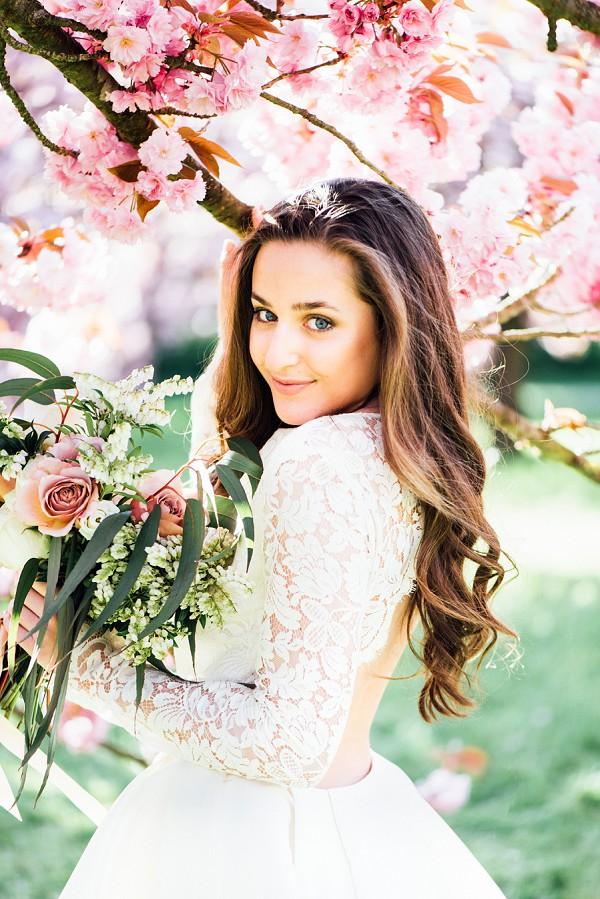 Springtime Cherry Blossom Wedding Paris