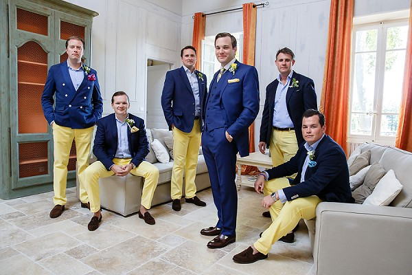 Tailor made yellow chinos