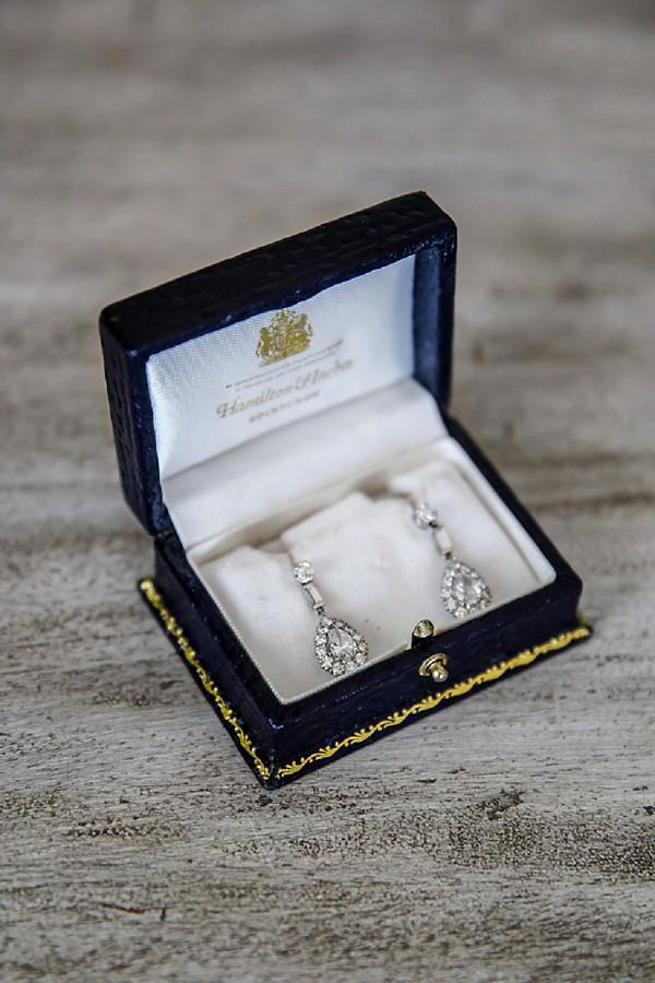 Teardrop wedding earrings
