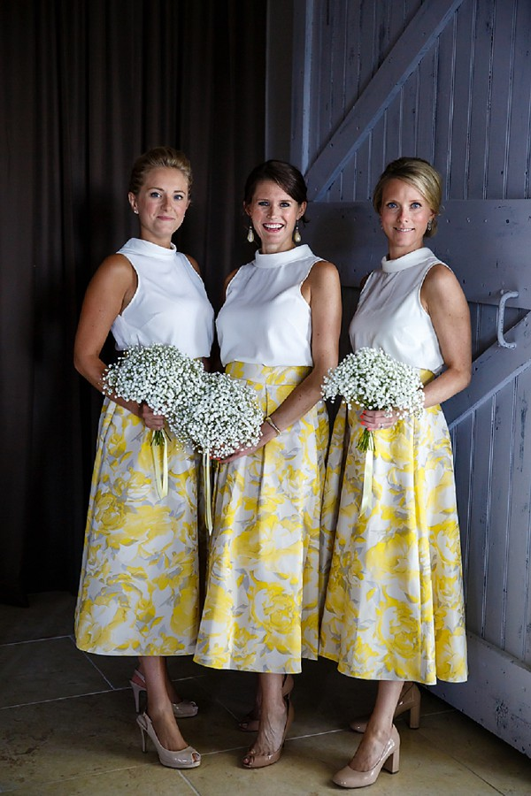 Two piece bridesmaid outfit