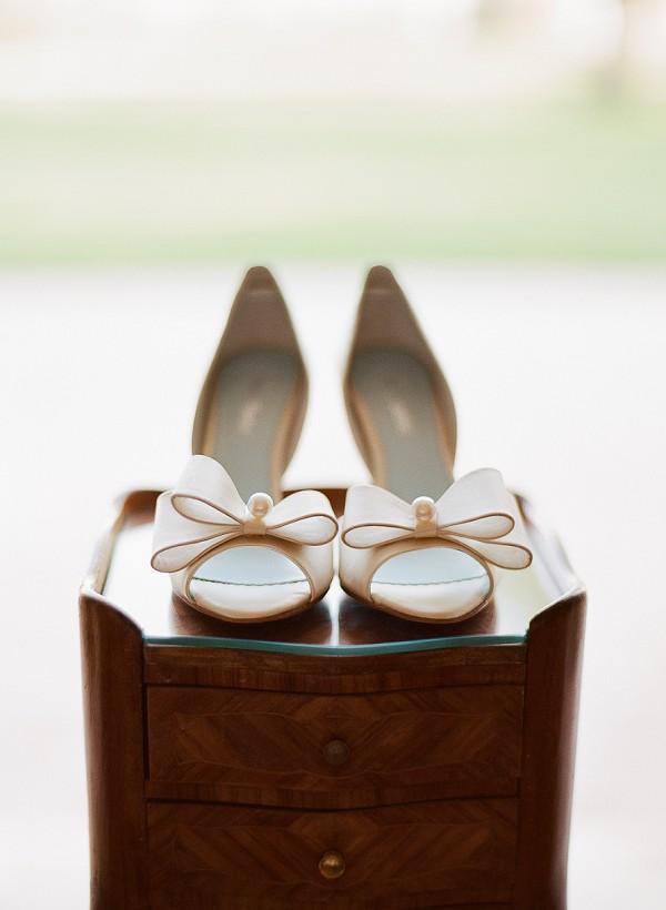 bow wedding heels