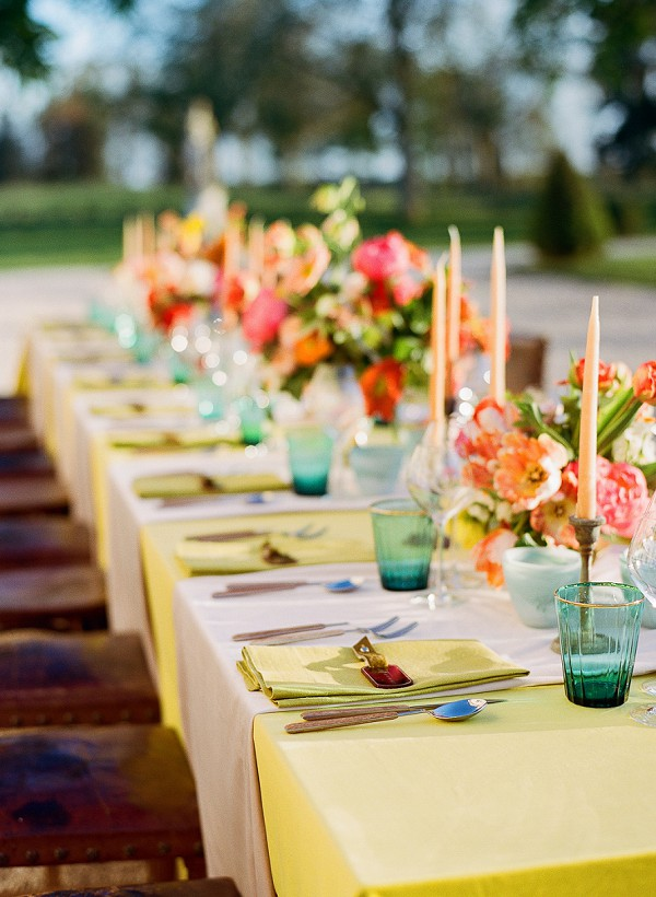 coral wedding palette