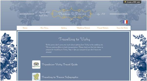 creating your own wedding websites