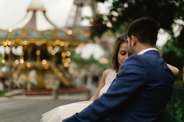 romantic Paris engagement
