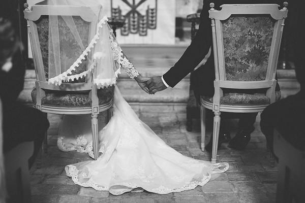 romantic church wedding