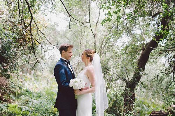 romantic woodland wedding photo