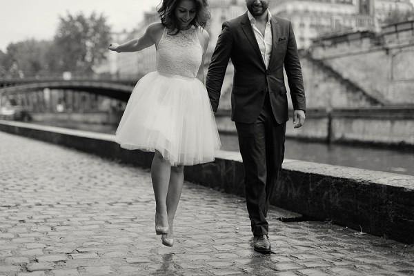 sweet Paris engagement