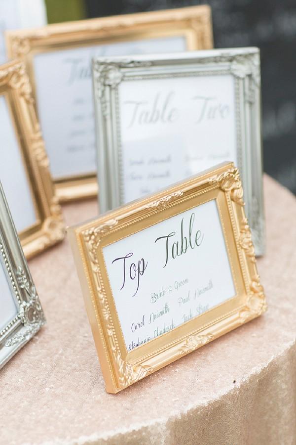 table plan frames