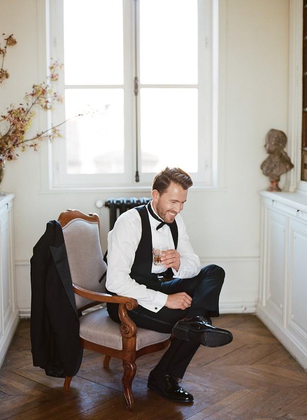 velvet tux french wedding