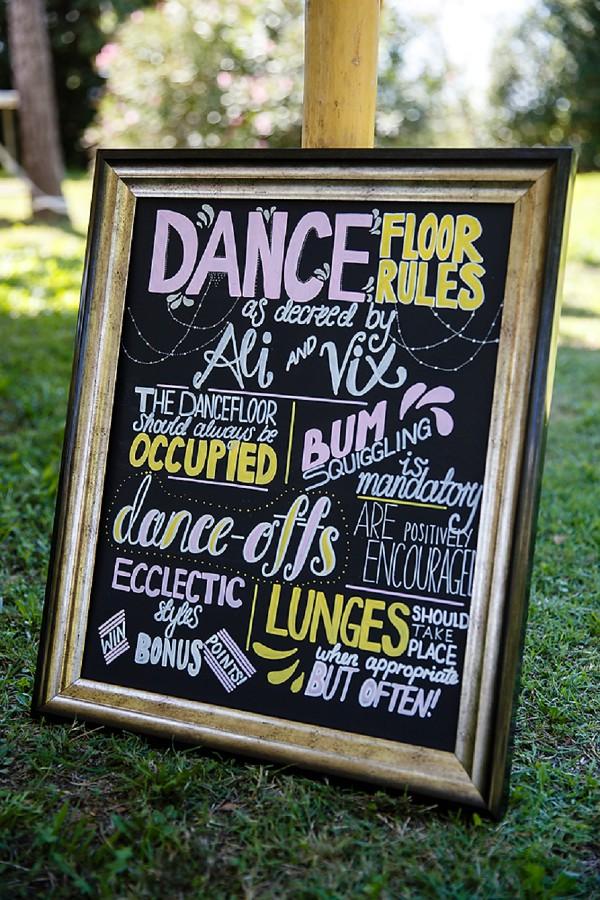 wedding dancefloor rules