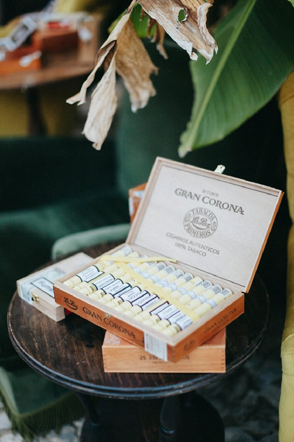 wedding day cigar