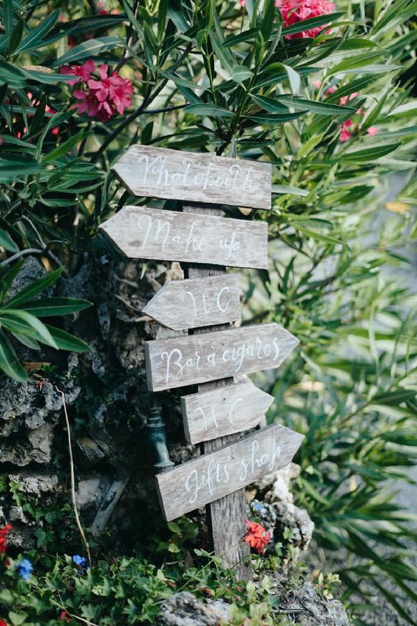 wood rustic wedding sign