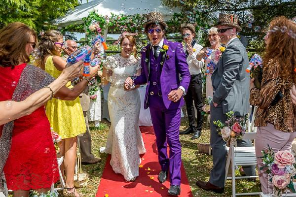 Bubble wedding aisle