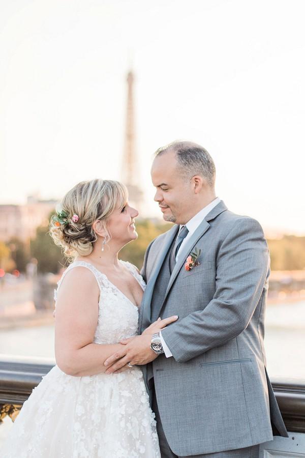 Eiffel tower wedding image