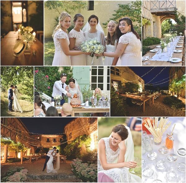 Elegant Chateau Wedding Snapshot