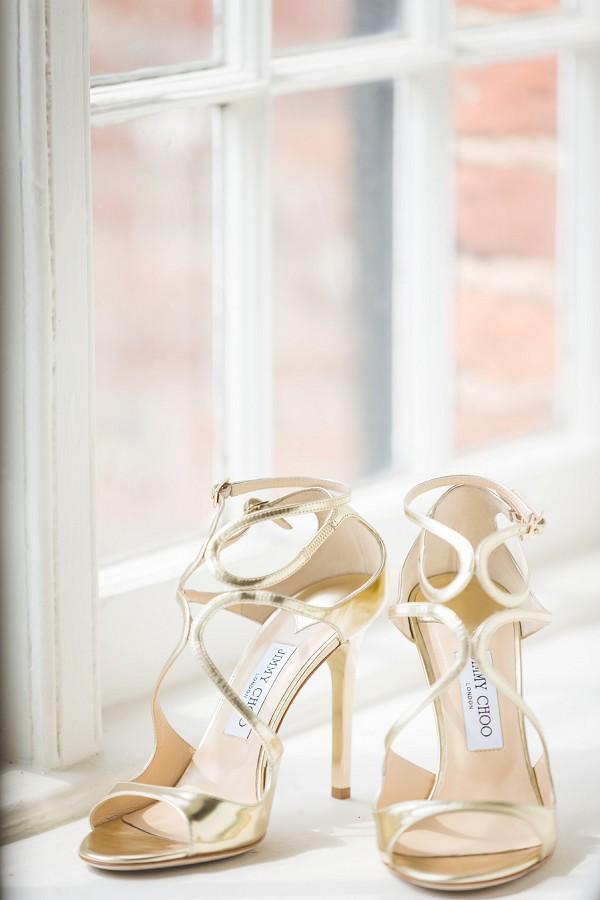 Gold Jimmy Choo Wedding Heels