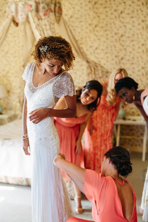 Jenny Packham fitted wedding dress