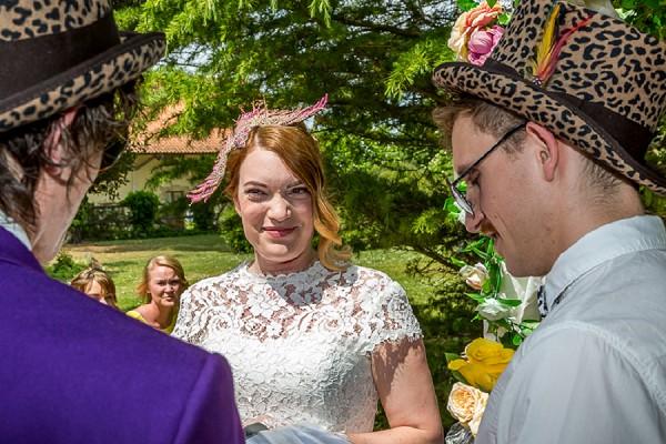 Leopard Print Wedding Hat