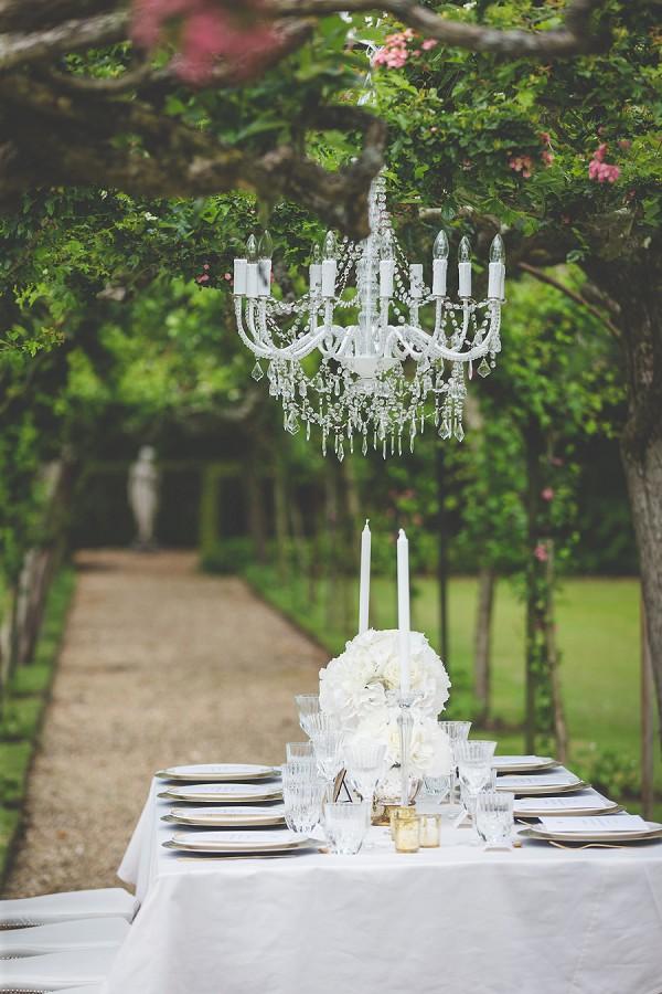 Outdoor luxury wedding reception