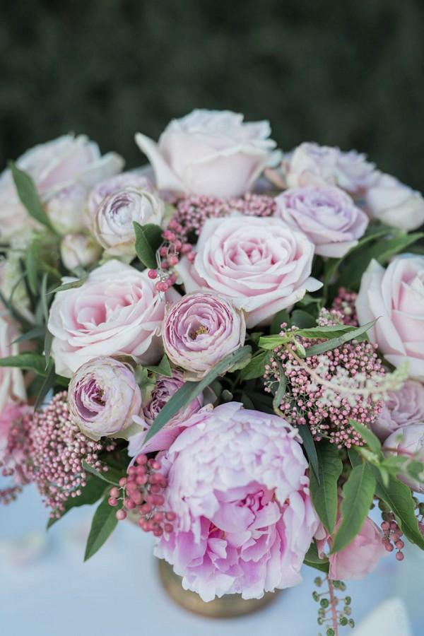 Peony wedding florals
