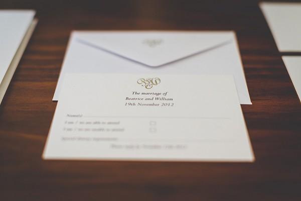 Simple luxury wedding invite suite