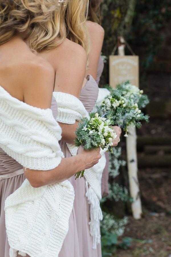 Winter bridesmaid bouquets