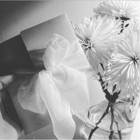 black and white wedding stationery