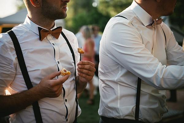 bow tie wedding guests