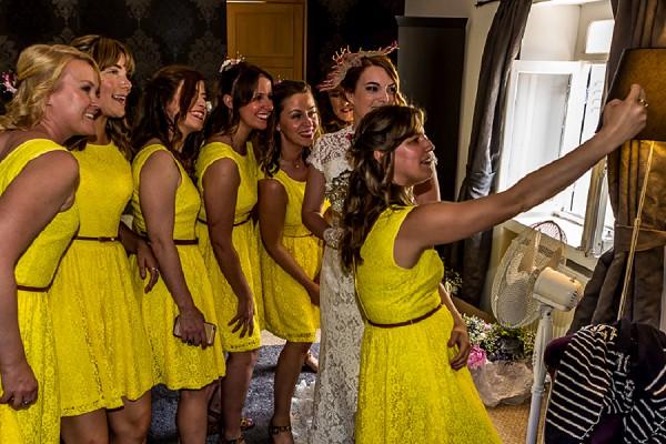 bright yellow wedding colour