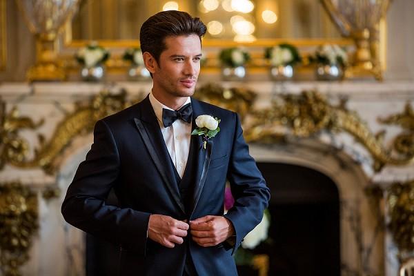 elegant black tie wedding Paris