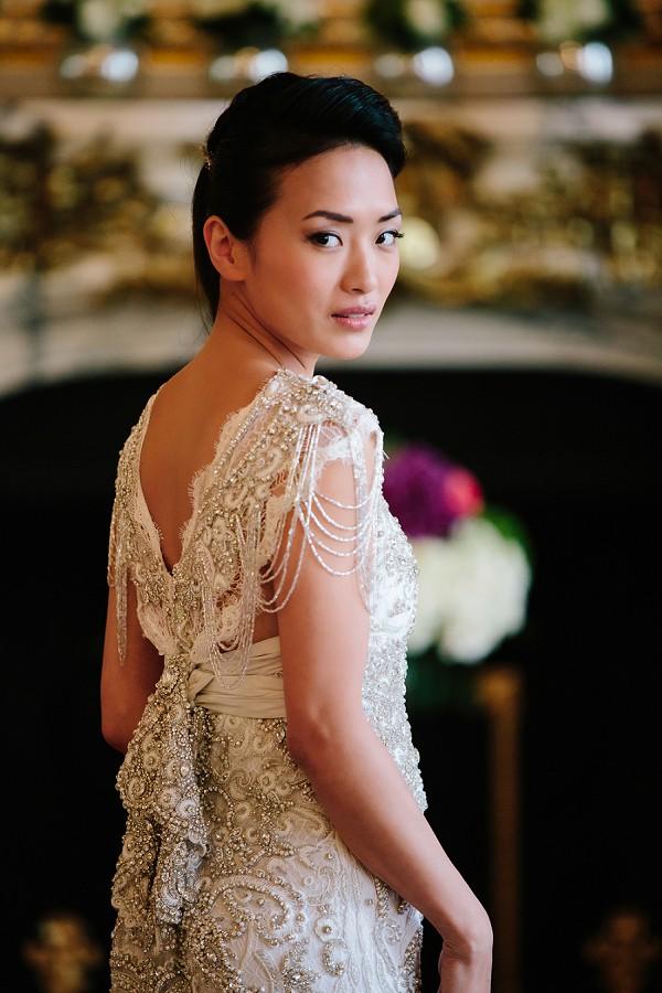 embellished wedding gown