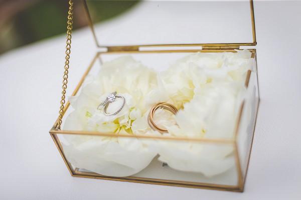 gold glass wedding ring box